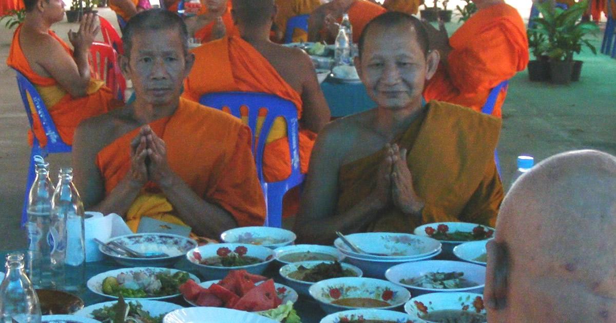 Rangfeier thailändischen buddhistischer Mönche