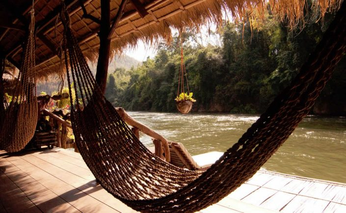 River Kwai Jungle Rafts Resort in Kanchanaburi